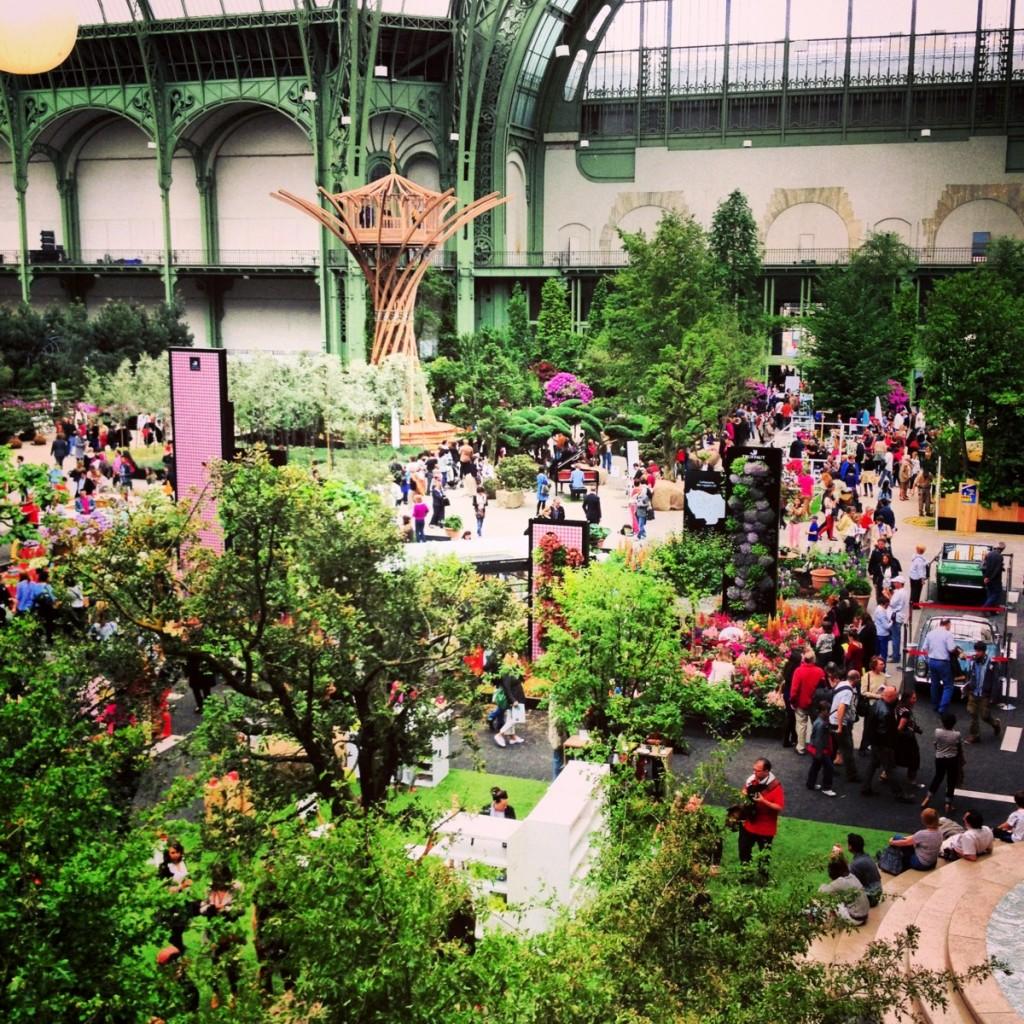 Nef du grand palais l 39 art du jardin exposiiton v nement au grand palais paris fleurs - Expo le grand palais ...