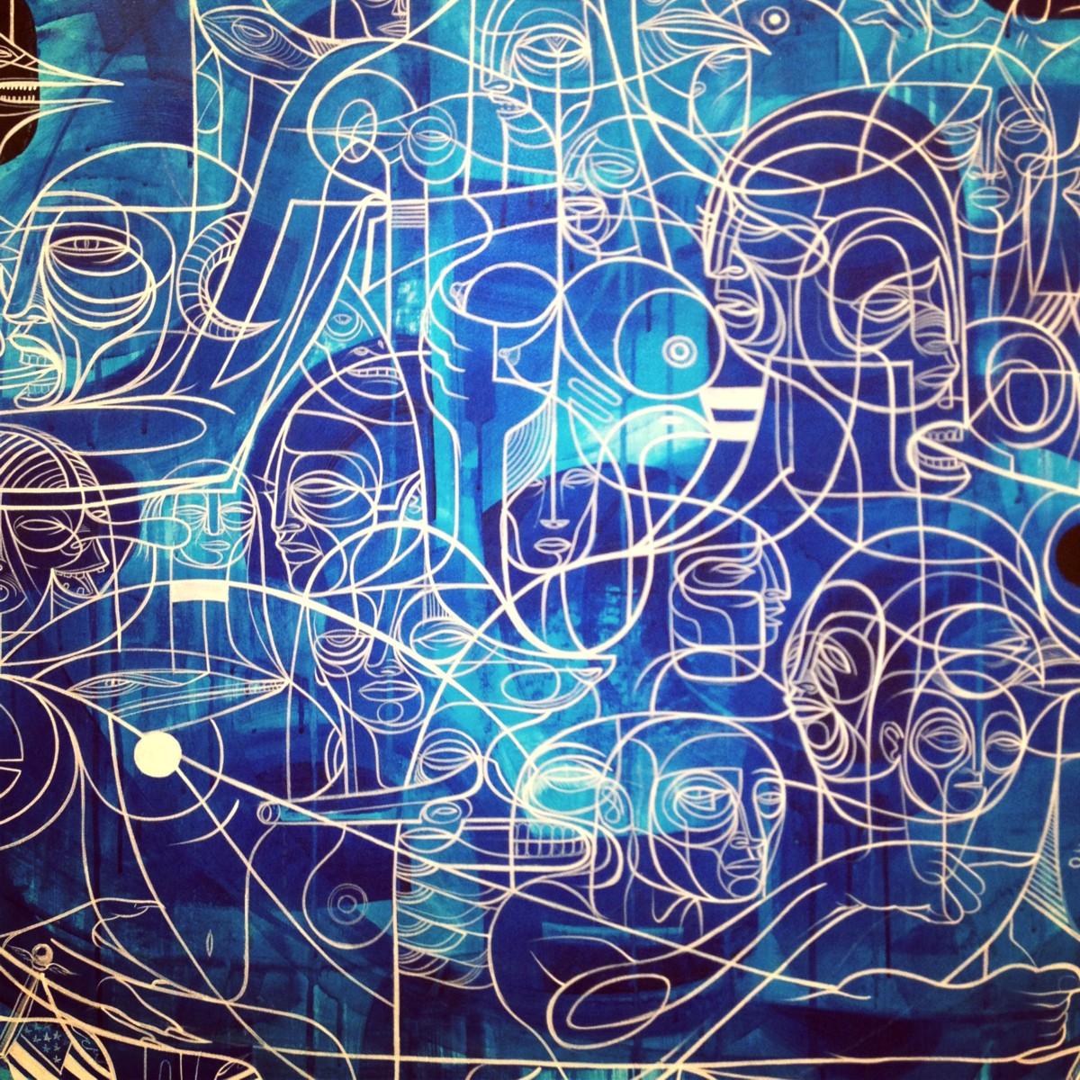 Lilith s progeny by doze green painting galerie openspace paris street art exhibition - Galerie street art paris ...