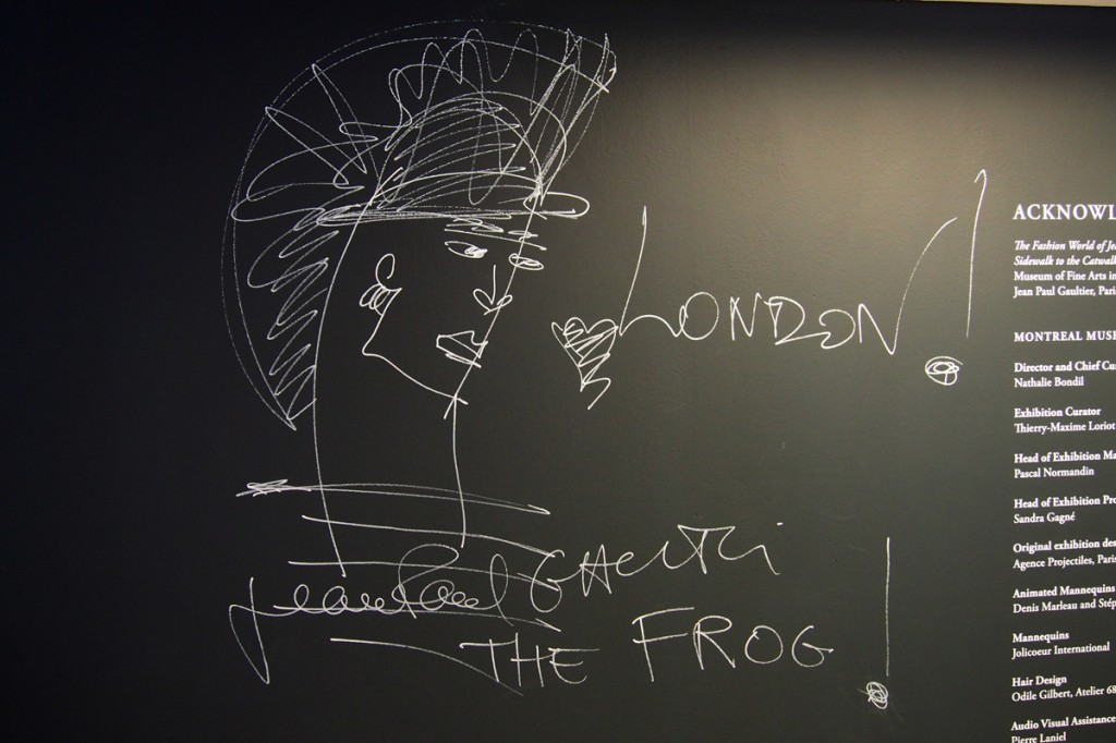 Welcome to The Fashion World of Jean Paul Gaultier From The Sidewalk to the Catwalk the frog London exhibition Barbican Centr exposition à Londres photo by United States of Paris blog