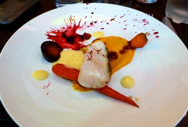 Plantxa restaurant Juan Arbelaez Top Chef 2012 Pablo Naranjo Boulogne billancourt poisson Cabillaub carrote chorizo