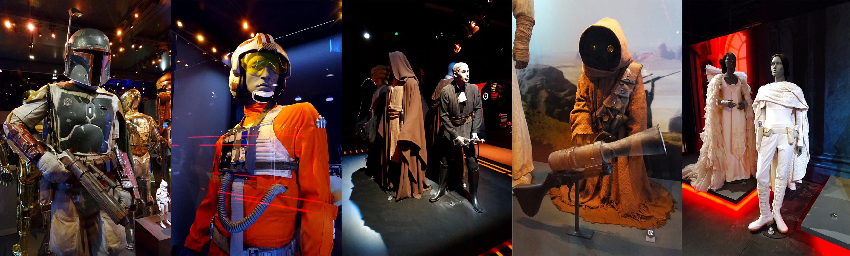 Star Wars Identites cité du cinéma Paris la Sucrière Lyon exposition interactif évènement expo critique guerre des étoiles costumes bobba feet luke jawa leia X wing