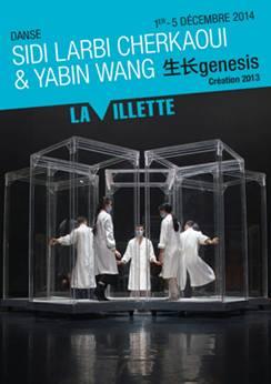Genesis de Sidi Larbi Cherkaoui Tezuka La grande Halle La Villette Yabin Wang danse live affiche