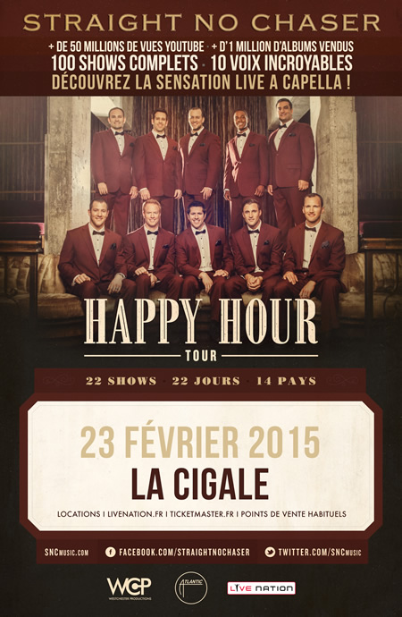 Groupe-Straight-no-chaser-affiche-concert-la-cigale-paris-23-fevrier-2015 happy hour tour music band musique