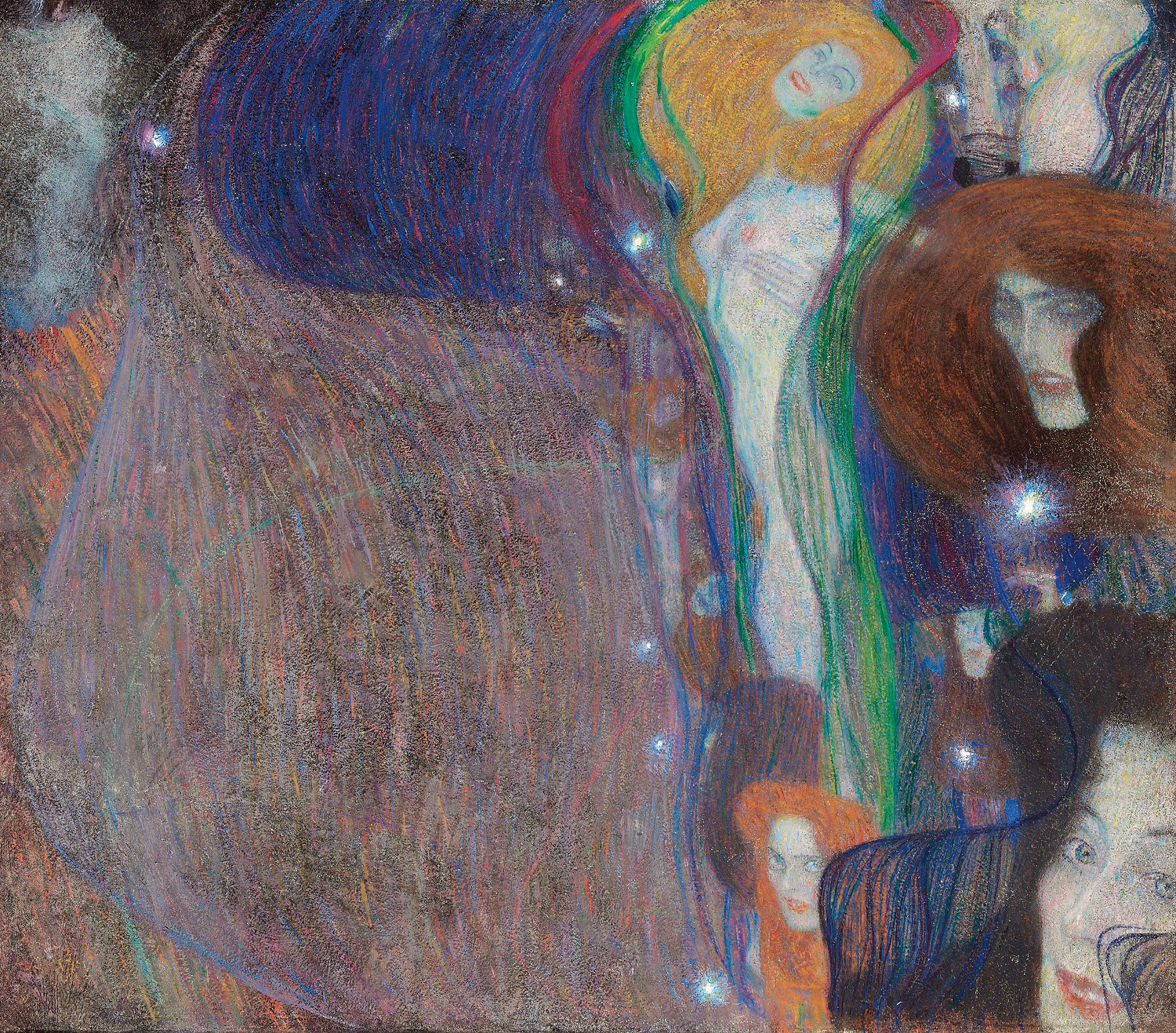 Feu Follet, 1903, Gustav Klimt, collection Privée Londres, photo Alfred Weidinger