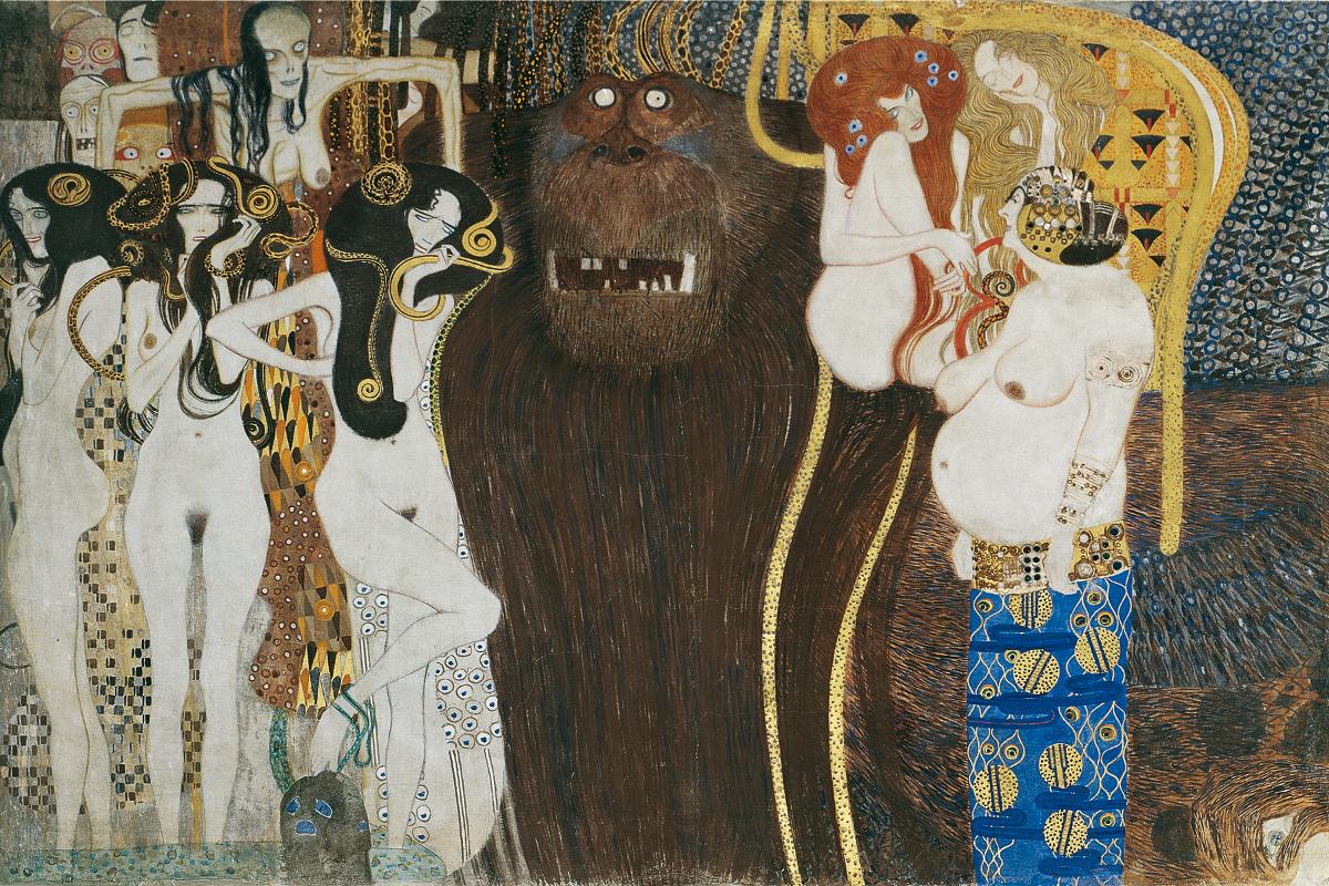 Reconstitution de la Frise Beethoven, Gustav Klimt, Musée Belvédère, Vienne