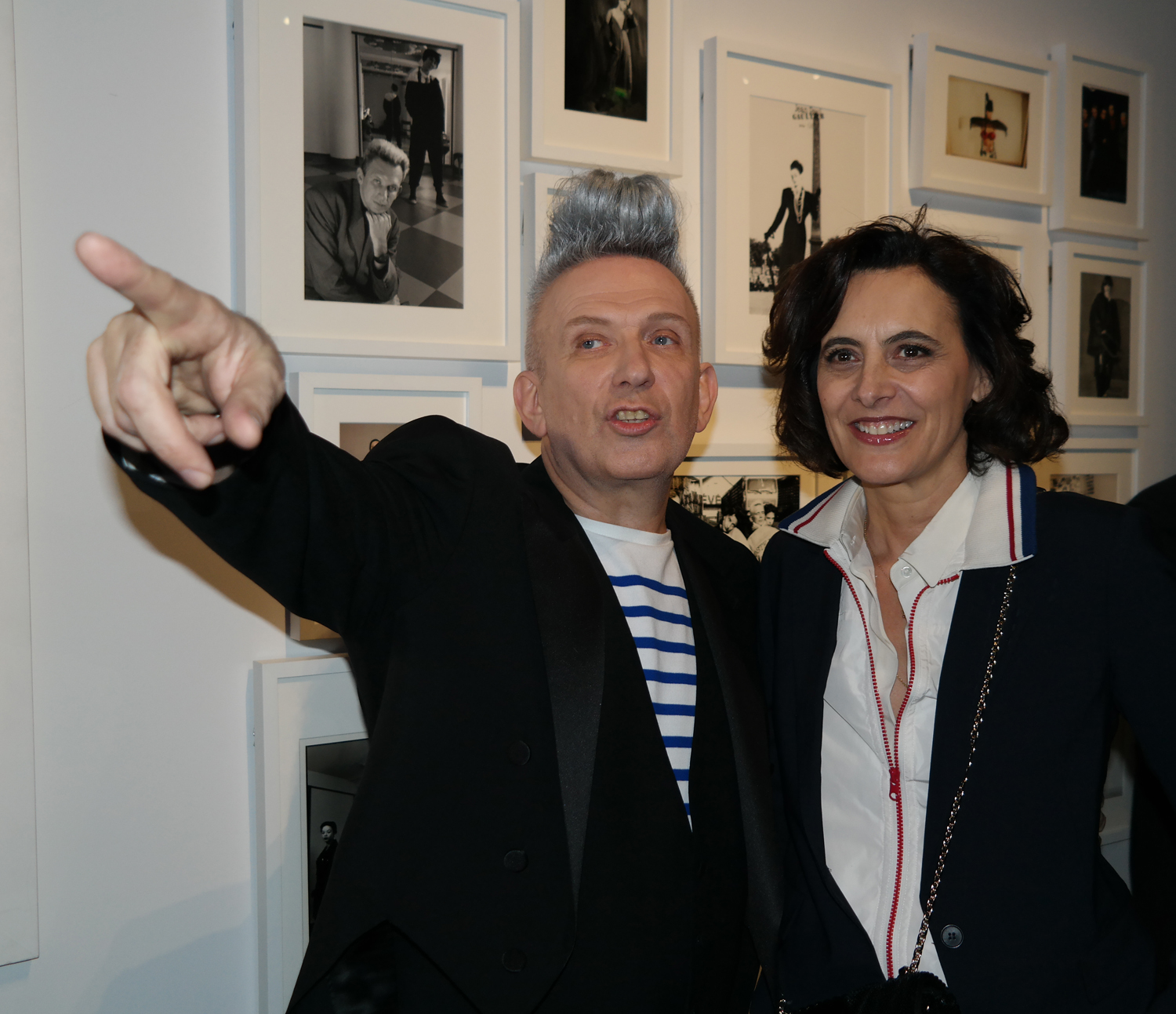 Jean Paul Gaultier couturier et muse Inès de la Fressange muse couture mode parisienne vernissage exposition Grand palais Paris photo by United States of Paris blog