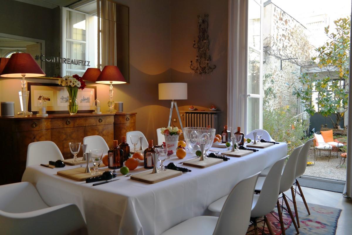 Cointreau Fizz privé soirée entre amis paris Jennifer Taïeb cocktail diner terrasse appartement