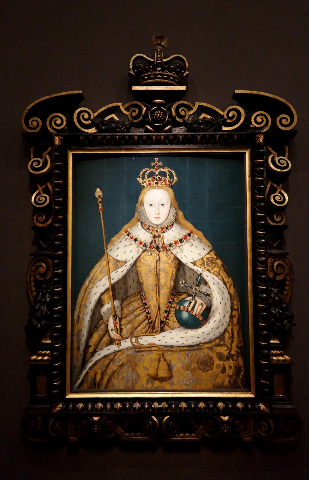 Elisabeth 1ère - dit Le Portrait du couronnement - artiste anglais - vers 1600 Londres, National Portrait gallery