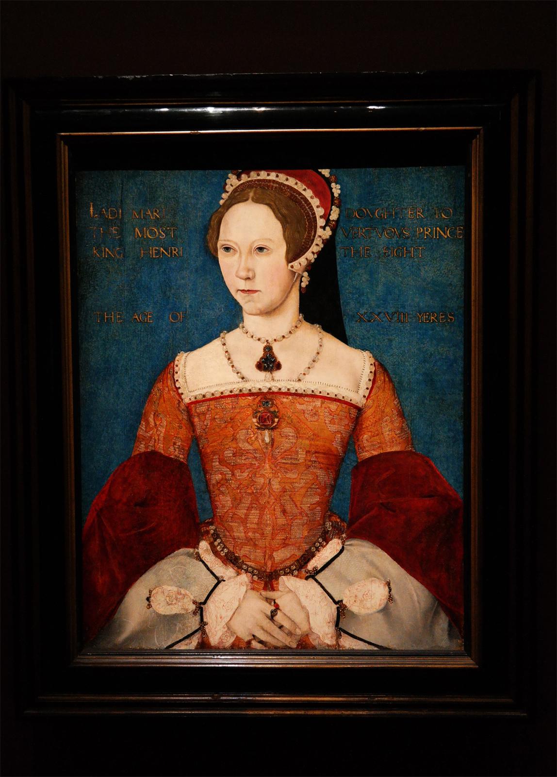 """Marie 1ère, Maître dit """"Master John"""" 1544 Londres, National Portrait Gallery"""