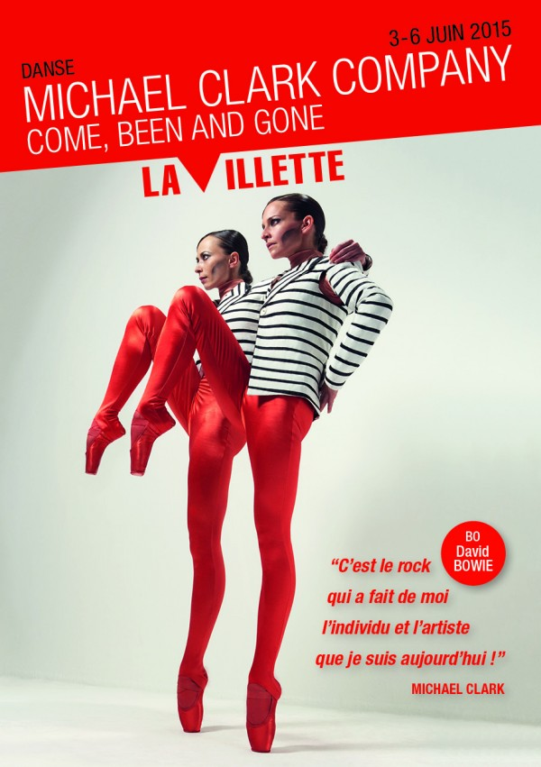 Come been and gone Michael Clark Company Grand Hall La VIllette spectacle danse concours affiche blog United States of Paris