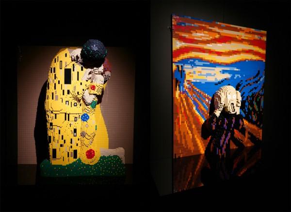 The art of the Brick  Nathan Sawaya art création Munch Klimt briques lego critique avis photo by United States of Paris
