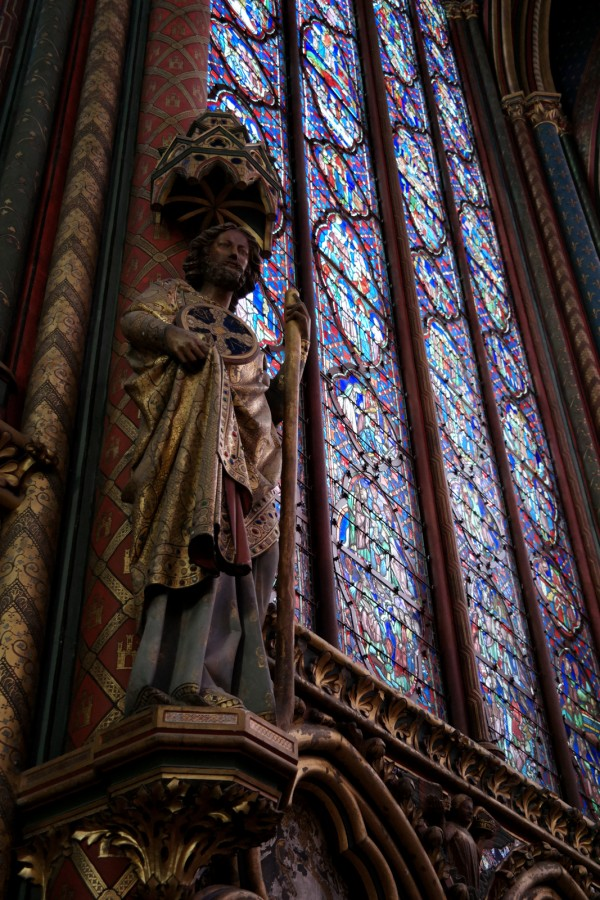 Vitraux Sainte Chapelle Paris art rénovation visite statue lumière beau Photo by Blog United States of Paris