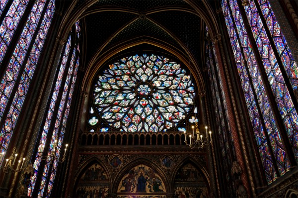 Vitraux Sainte Chapelle Paris nef rosace art rénovation visite Photo by Blog United States of Paris