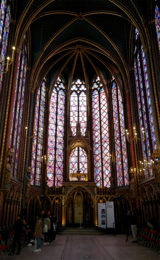 Vitraux Sainte Chapelle Paris reliques nef art rénovation visite Photo by Blog United States of Paris