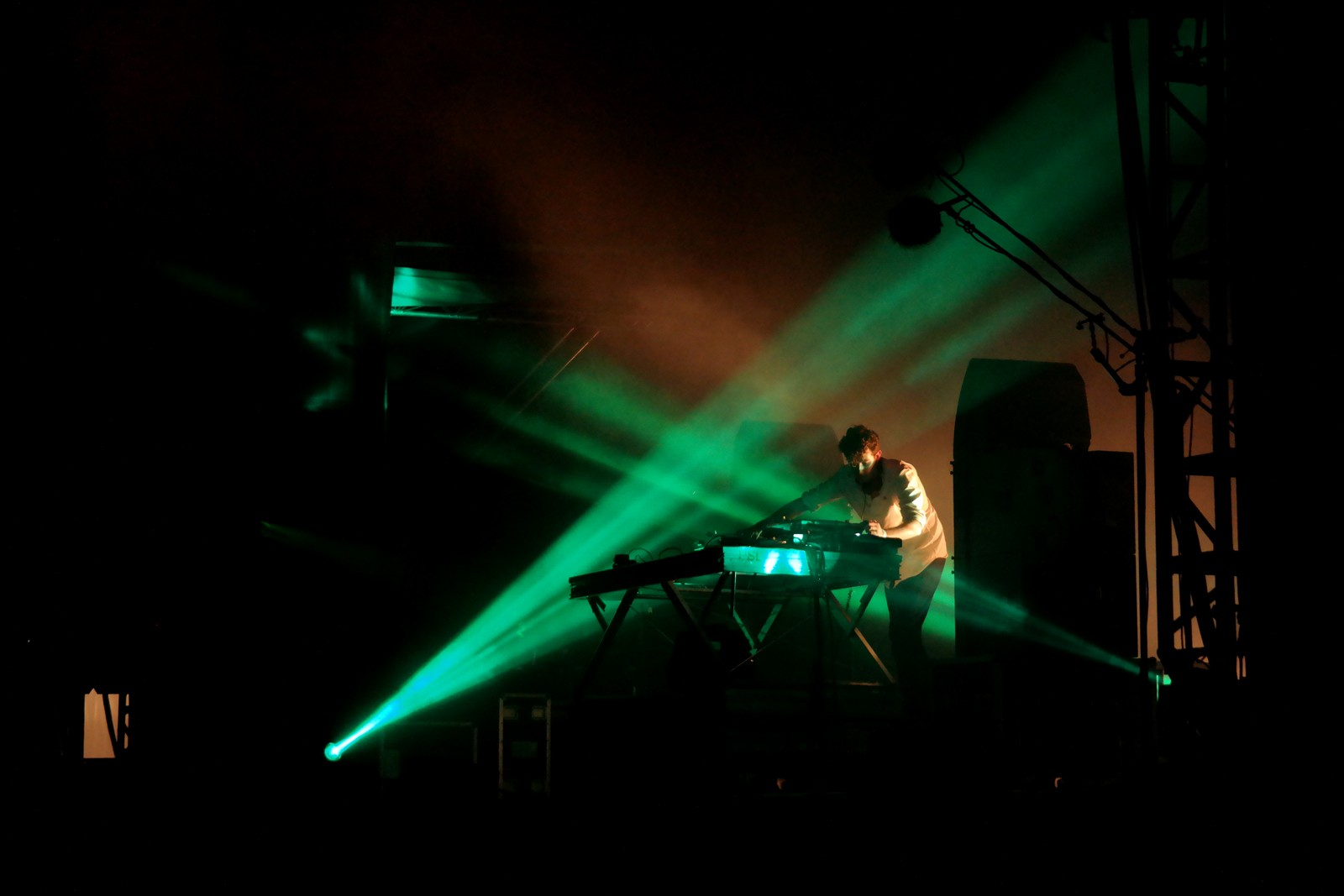 Jamie XX dj set live Rock en Seine 2015 music festival france stage photo by united states of paris blog