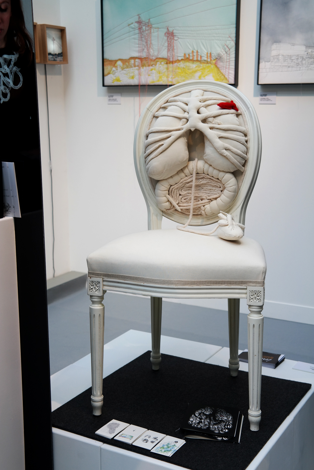 Chaise anatomique anatomical chair by Pauline Krier & Anouk Cazin stand Lorraine Salon Révélations 2015 Grand Palais Paris métiers art et création