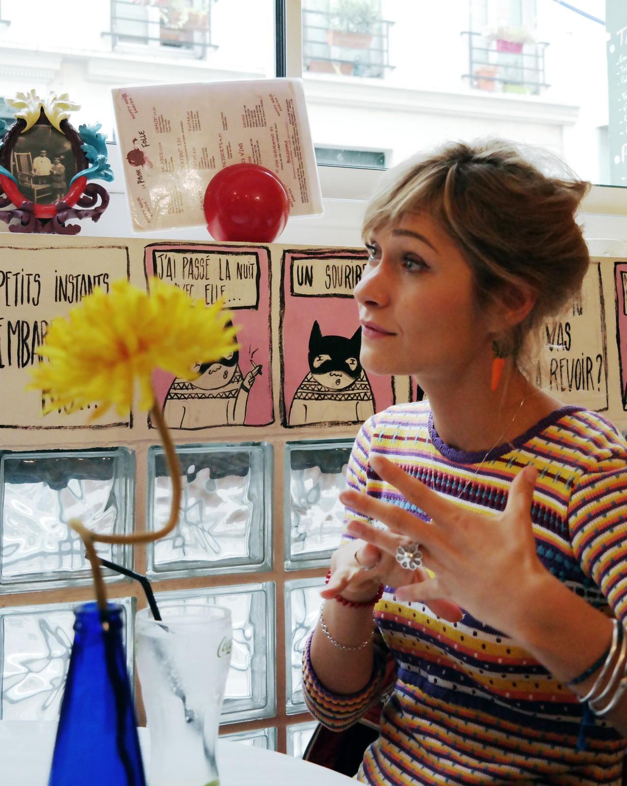 GiedRé à la fleur interview de la chanteuse humoriste compositrice pour le blog united states of paris usofparis