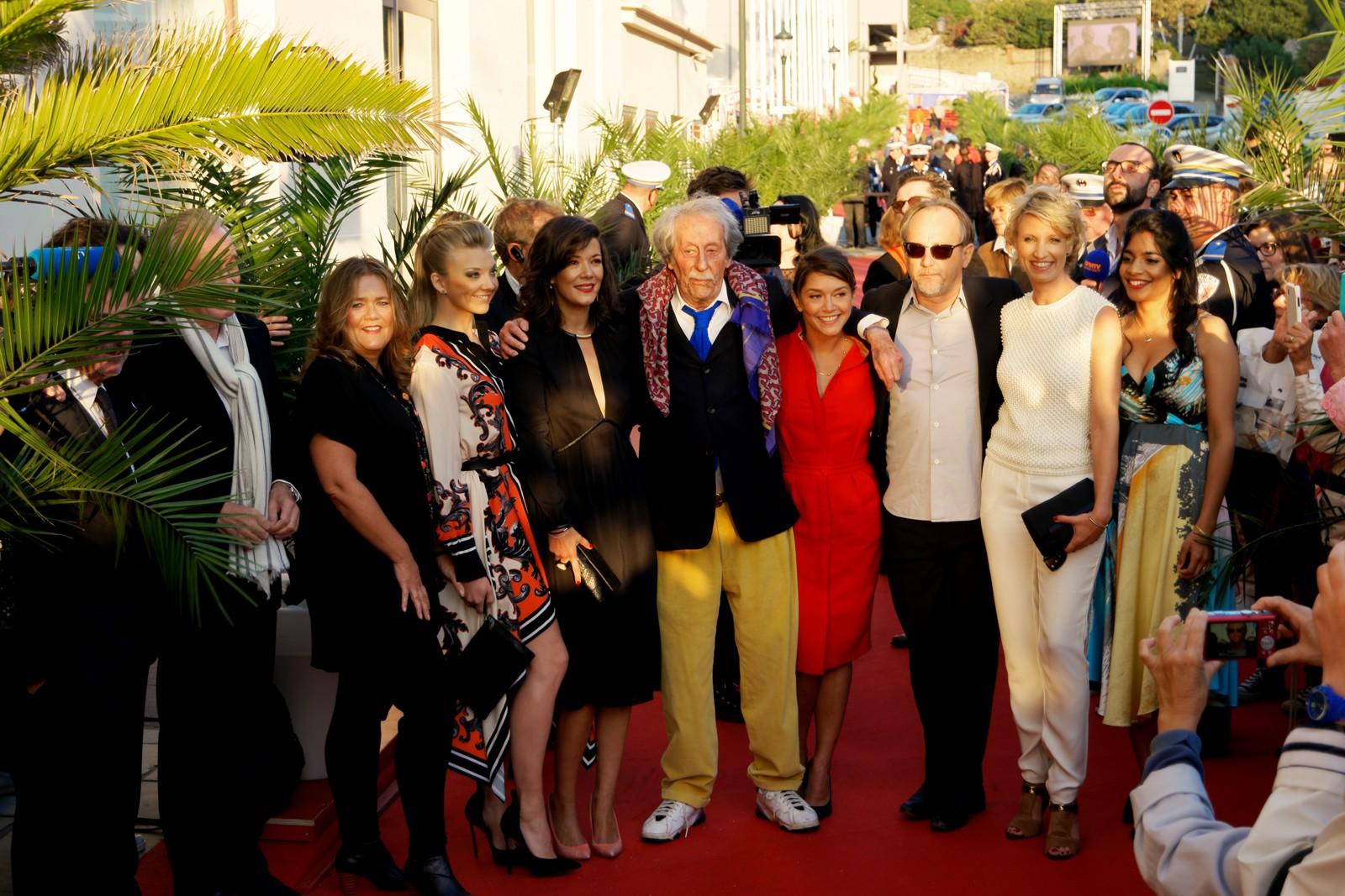 Jury du Festival du film Britannique de Dinard Jean Rochefort Alexandra Lamy Mélanie Doutey Nathalie Dormer soirée ouverture tapis rouge photo usofparis