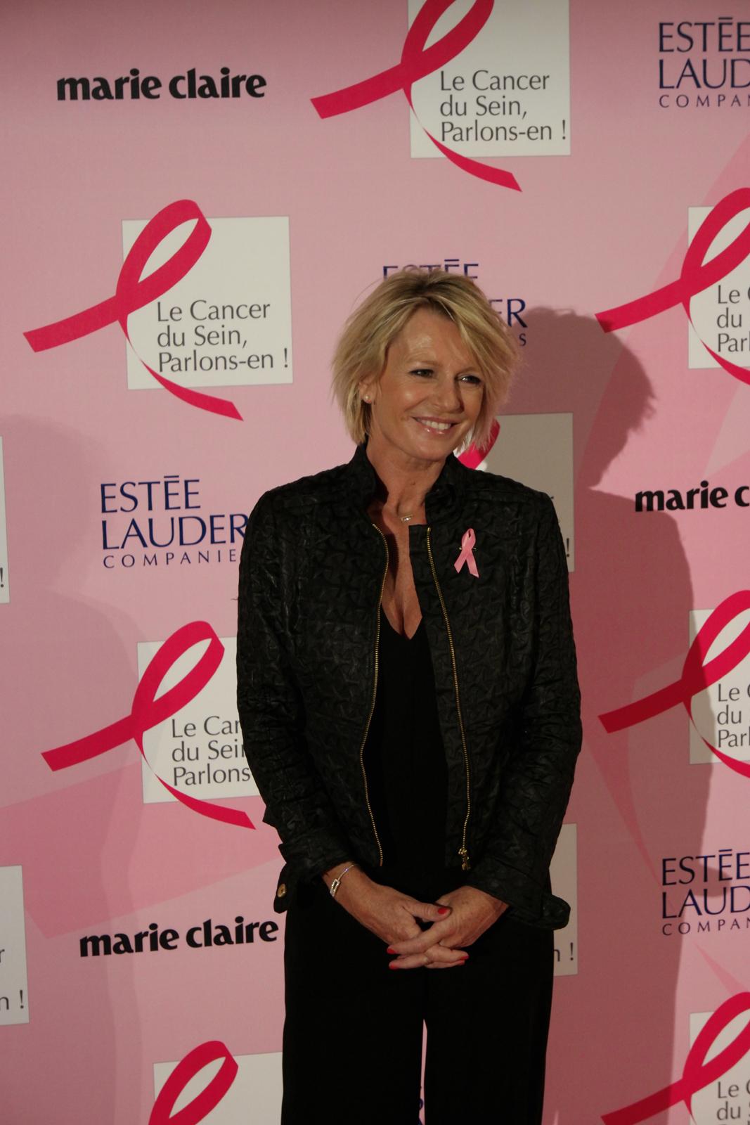 sophie davant marraine octobre rose 2015 soir e lancement campagne cancer du sein parlons en. Black Bedroom Furniture Sets. Home Design Ideas