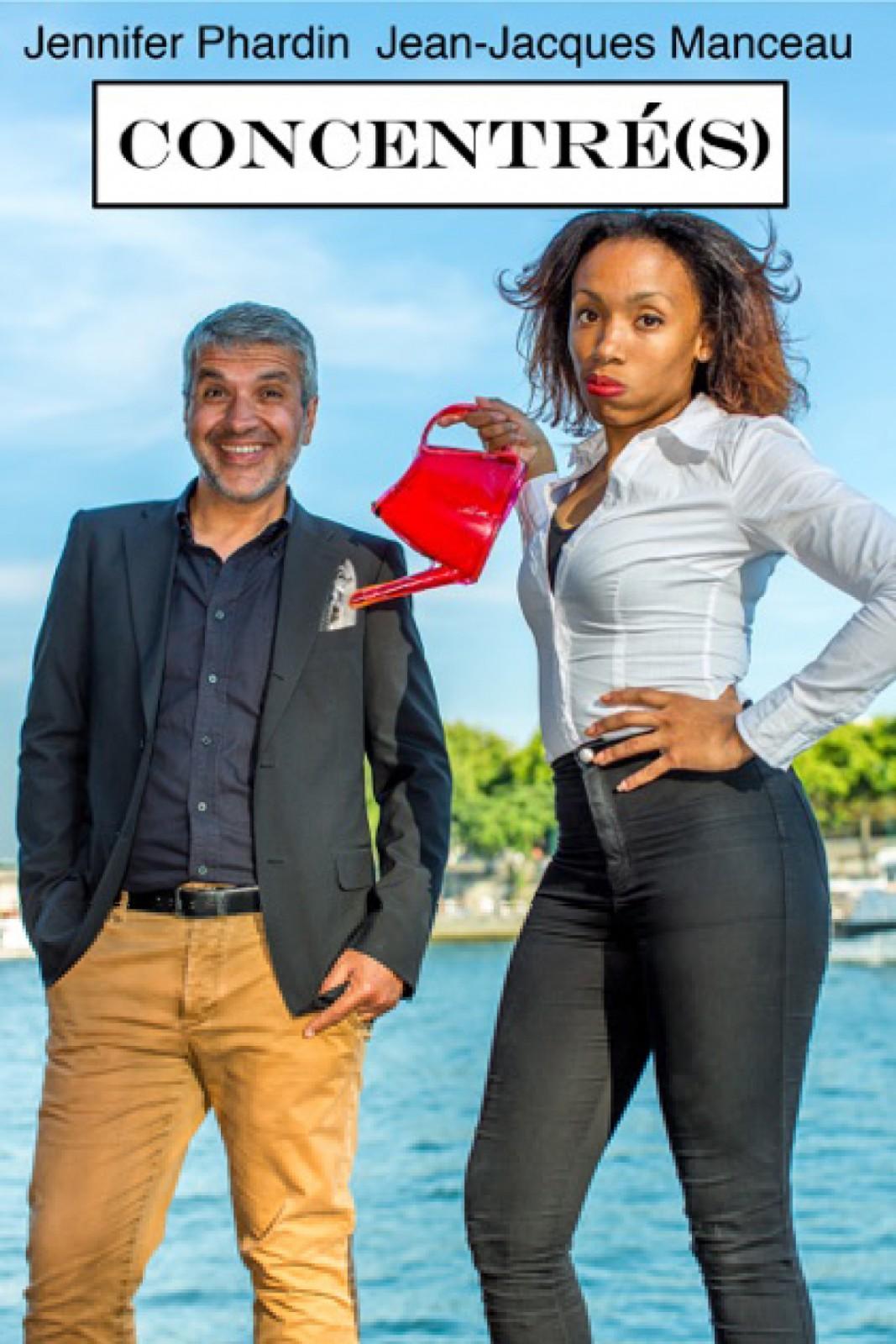Concentrés de et avec Jean Jacques Manceau et Jennifer Phardin spectacle humour au Théâtre La cible Paris rue Jean-Baptiste Pigalle one woman et man show