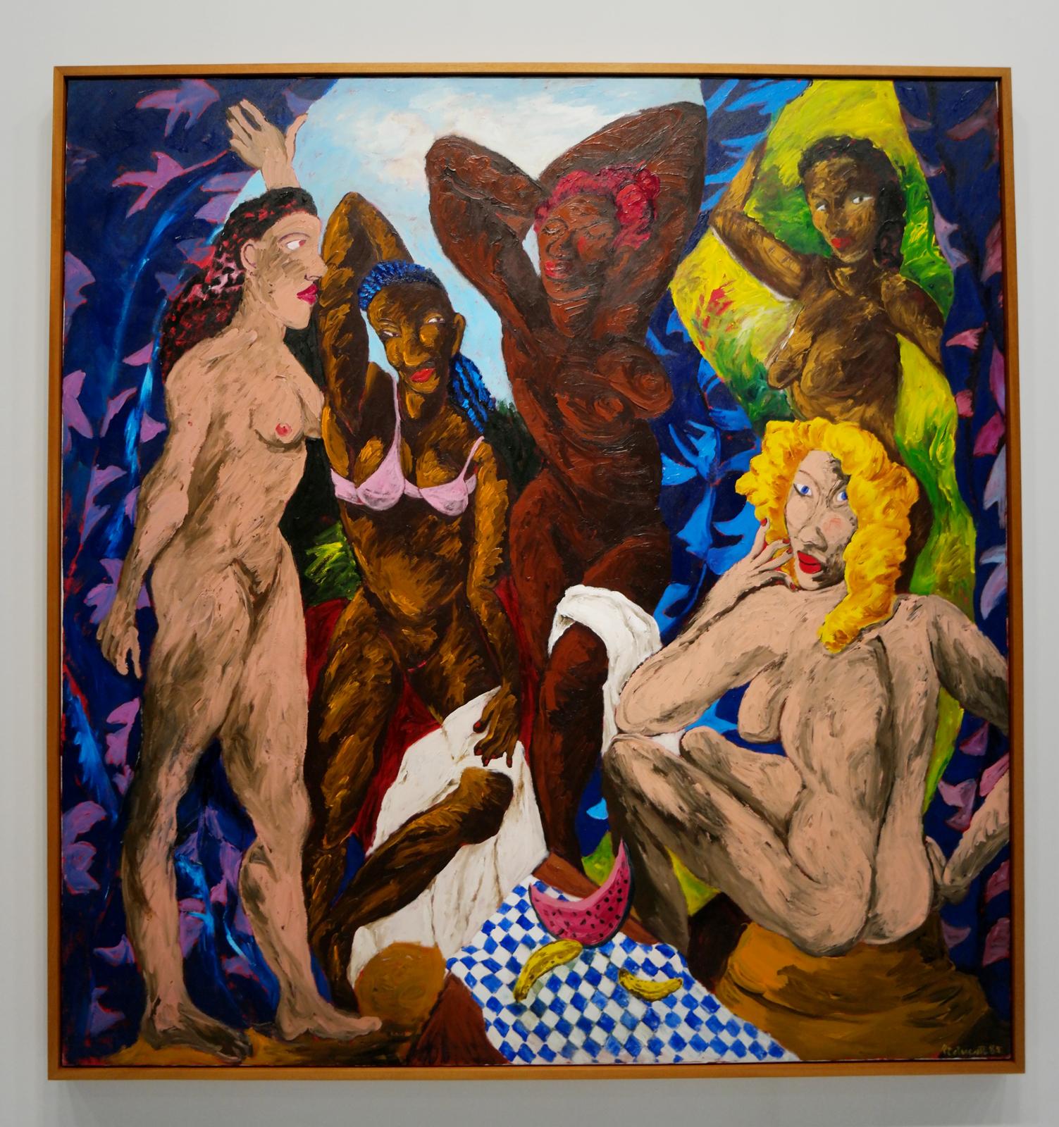 Les Demoiselles d'Alabama dénudées, 1985, Robert Colescott