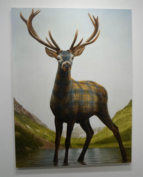 Moroon Belts Deer 2015 by Sean Landers oil on linen Capitain Petzel Gallery Berlin FIAC 2015 Grand Palais Paris international contemporary art fair