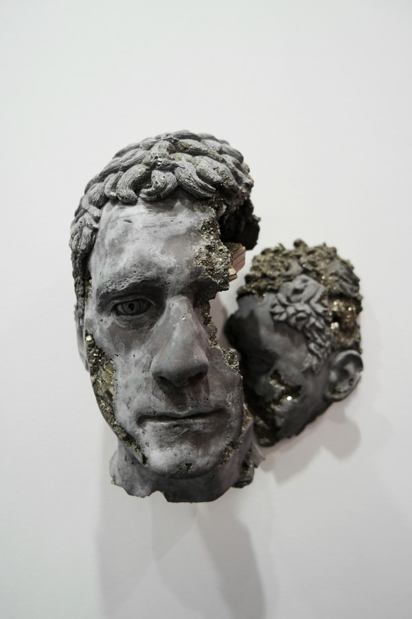 Pyrite Cracked Face 2015 by Daniel Arsham Pyrite hydrostone unique Galerie Emmanuel Perrotin FIAC 2015 Grand Palais PARIS international contemporary art fair