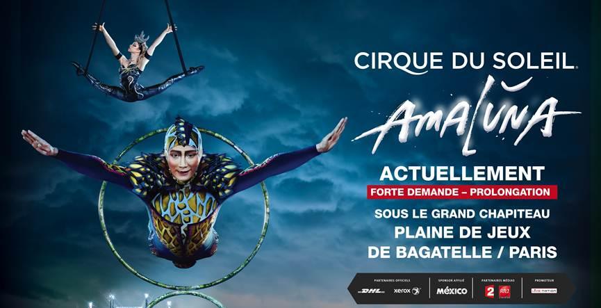 Amaluna show spectacle du Cirque du Soleil prolongation janvier 2016 plaine de jeux de bagatelle paris 2015