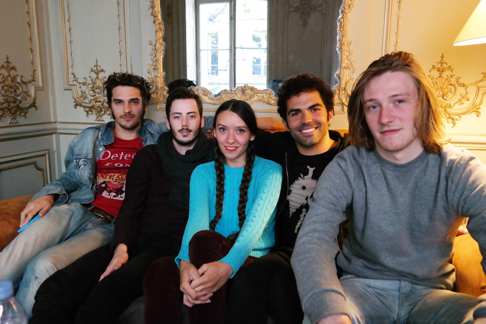 de gauche à droite : Klem, Simone, Tanguy, Joseph et Raoul