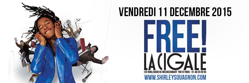 Shirley Souagnon spectacle Free à la Cigale Paris avec le groupe The Krooks one woman show et concert