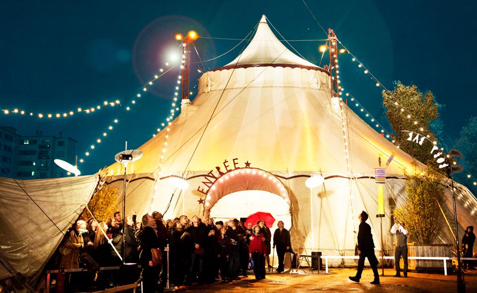 Villette en cirques spectacles espace chapiteaux janvier 2016 programmation cirque contemporain avec Zampanos Aïtal Centre national des arts du cirque