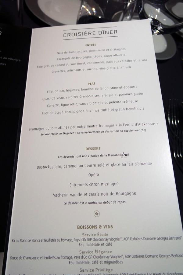 Bateaux parisiens avis critique menu croisière port bourdonnais photo by Blog United States of Paris