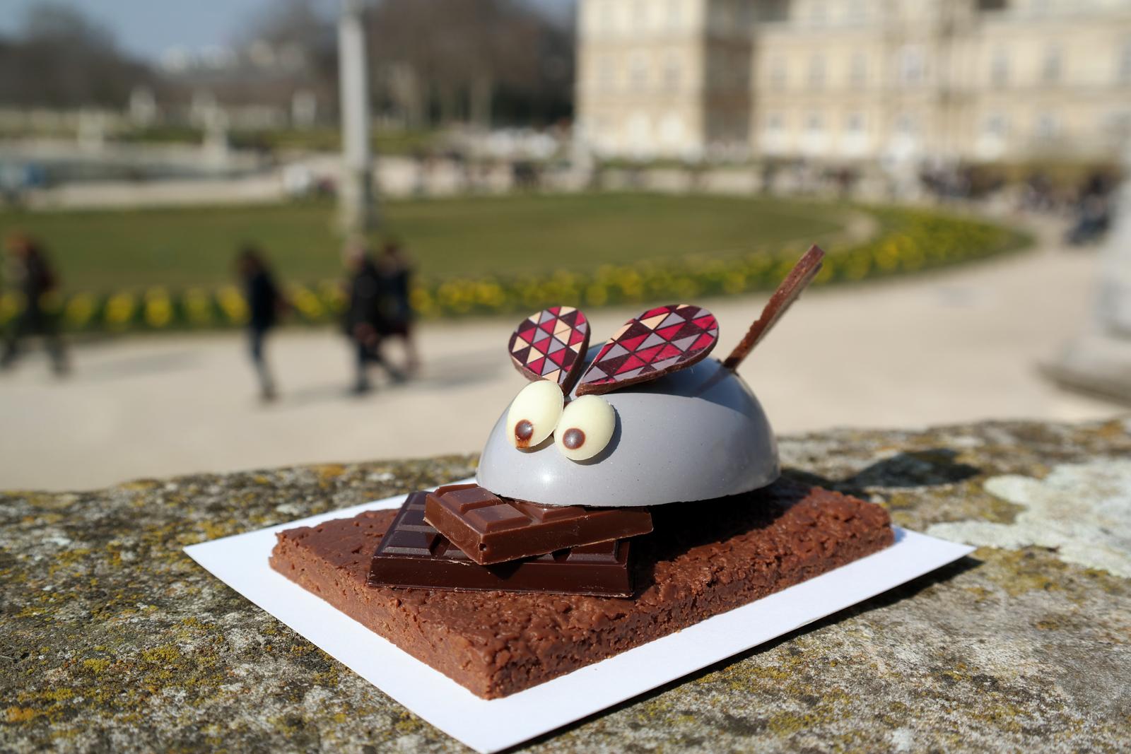 Souris Arlequin chocolat au lait et noir Henri Le Roux chocolatier et caramelier Pâques 2016 photo usofparis blog