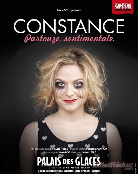 Affiche Partouze sentimentale spectacle Constance dernière au Palais des glaces Paris captation DVD humour one woman show