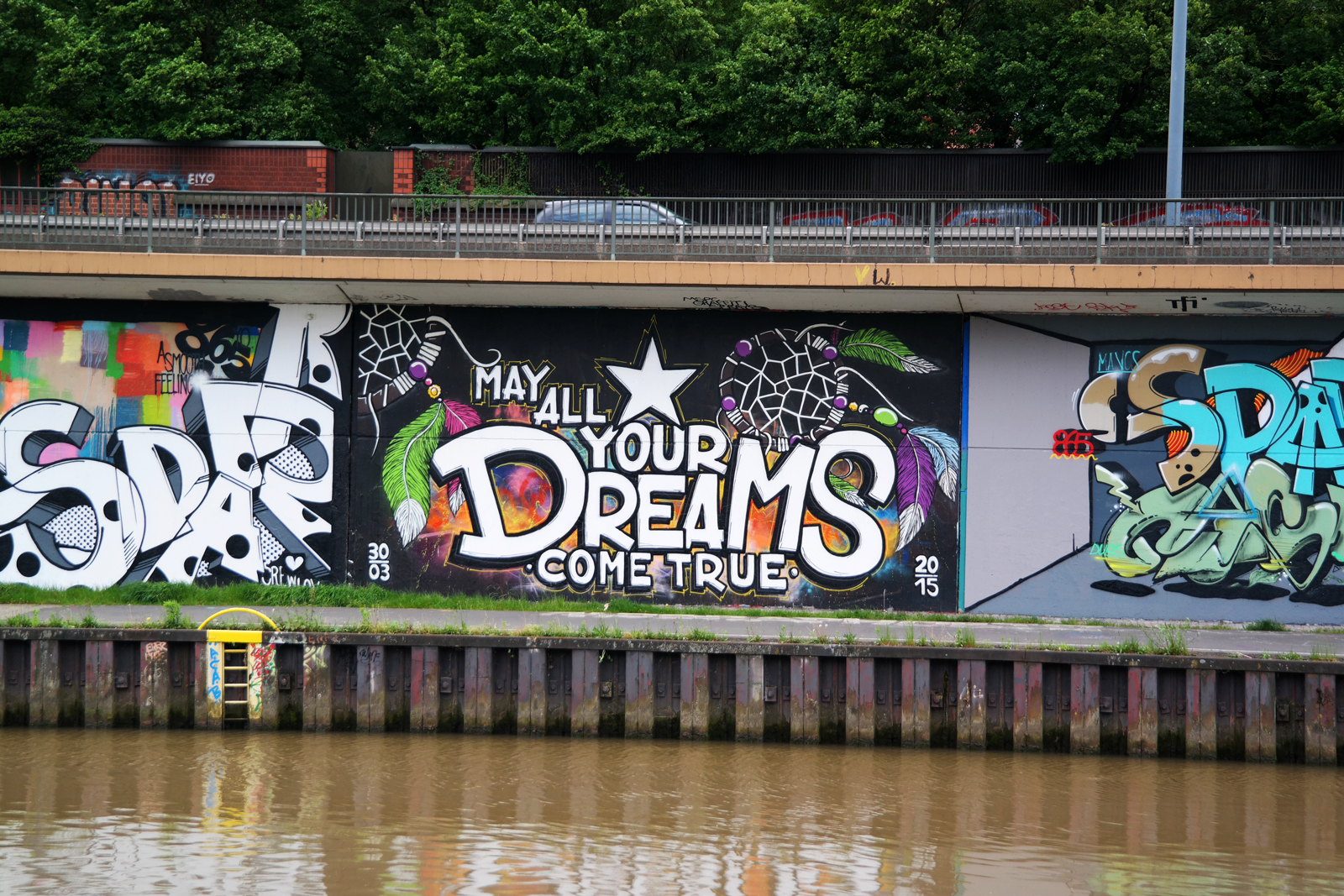 May all your dreams come true street art graffiti Saarbrücken Sarrebruck tourisme festival Perspectives photo usofparis blog