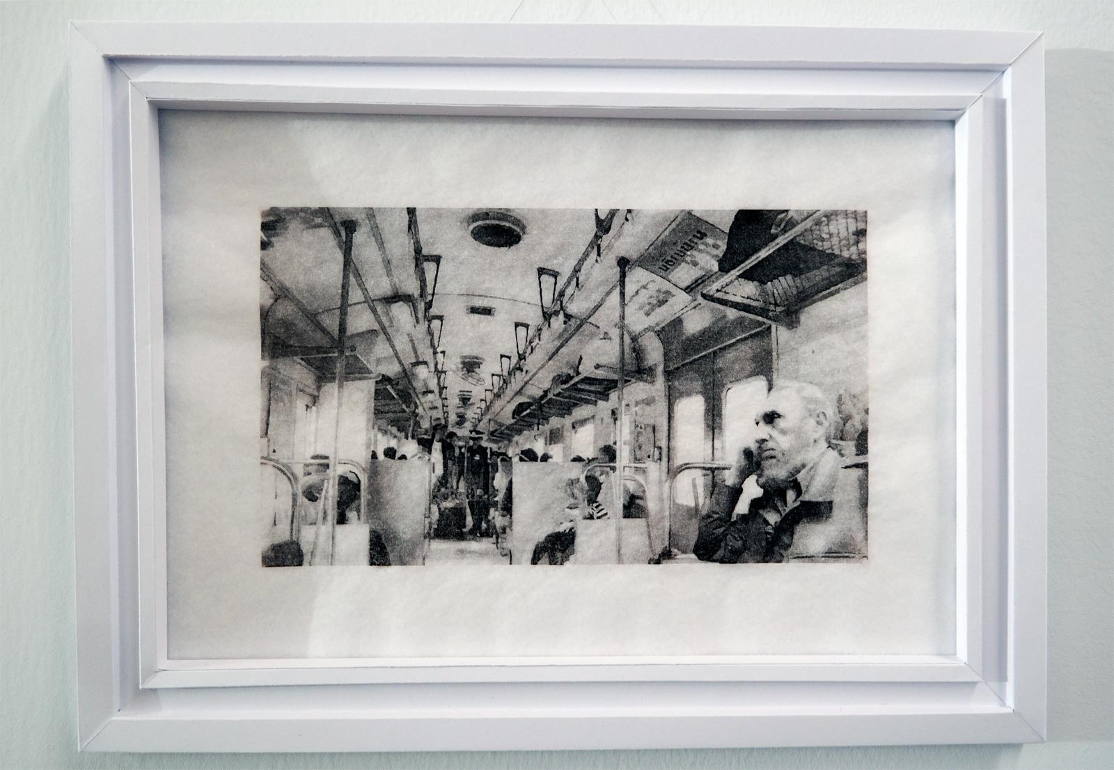 Yassine Boussaadoun Fidel Castro série Les Dictateurs dans le métro 2013 transfert sur papier oeuvre sélection 61e salon de montrouge 2016 art