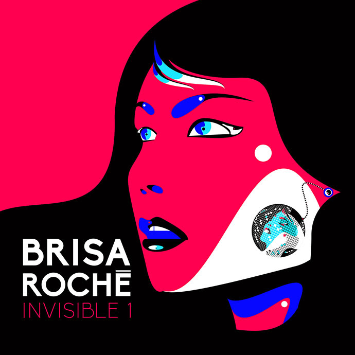 Brisa Roché Invisible 1 couverture du nouvel album cover kwaidan records K7 production Blackjoy Marc Collin Thibaut Barbillon avec Each one of us