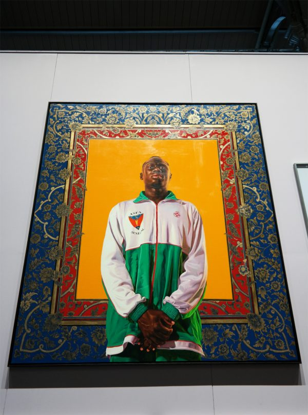 Idrissa Ndiaye portrait by Kehinde Wiley 2012 courtesy Galerie Daniel Templon Paris Bruxelles Foot Foraine Villette La Grande Galerie exposition Euro 2016