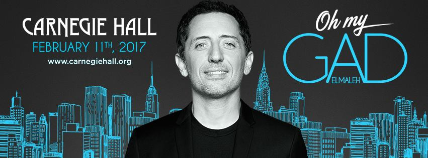 Oh my Gad Elmaleh show Carnegie Hall New York february 11th 2017 humor spectacle