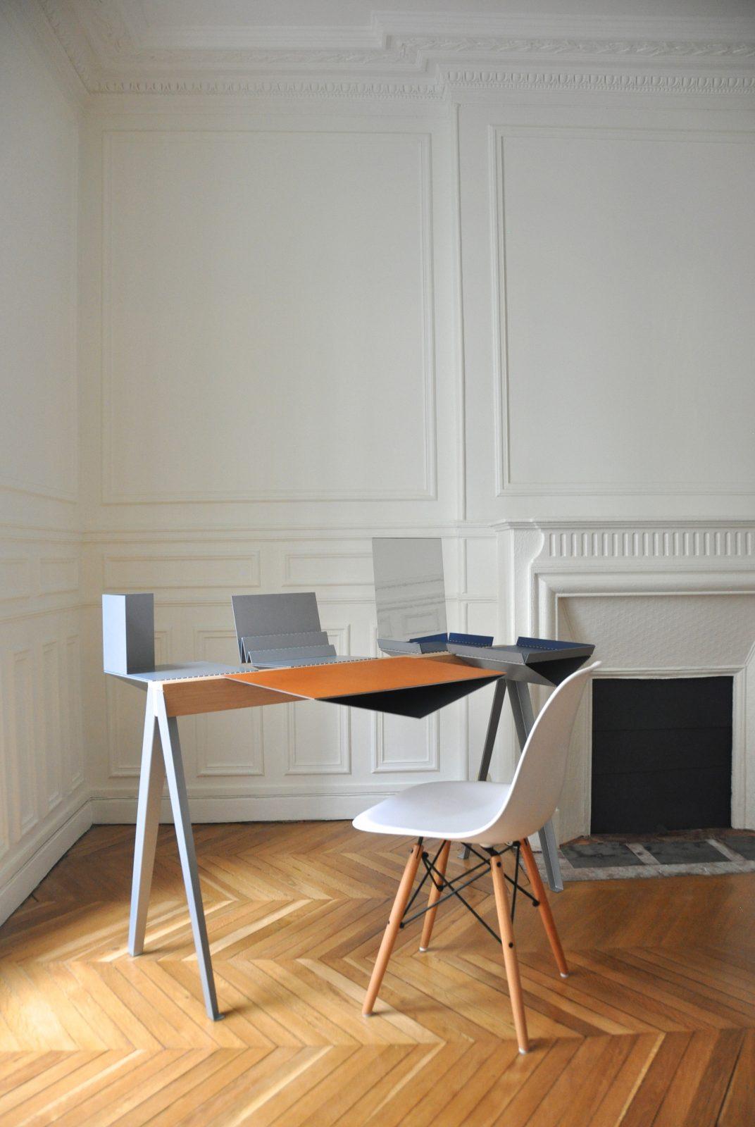 Nomade, console/bureau modulable personnalisable par Élodie Rampazzo