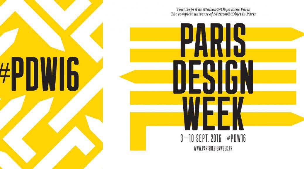 Paris Design Week 2016 affiche PDW16 Maison et Objet parcours exposition installation now le off