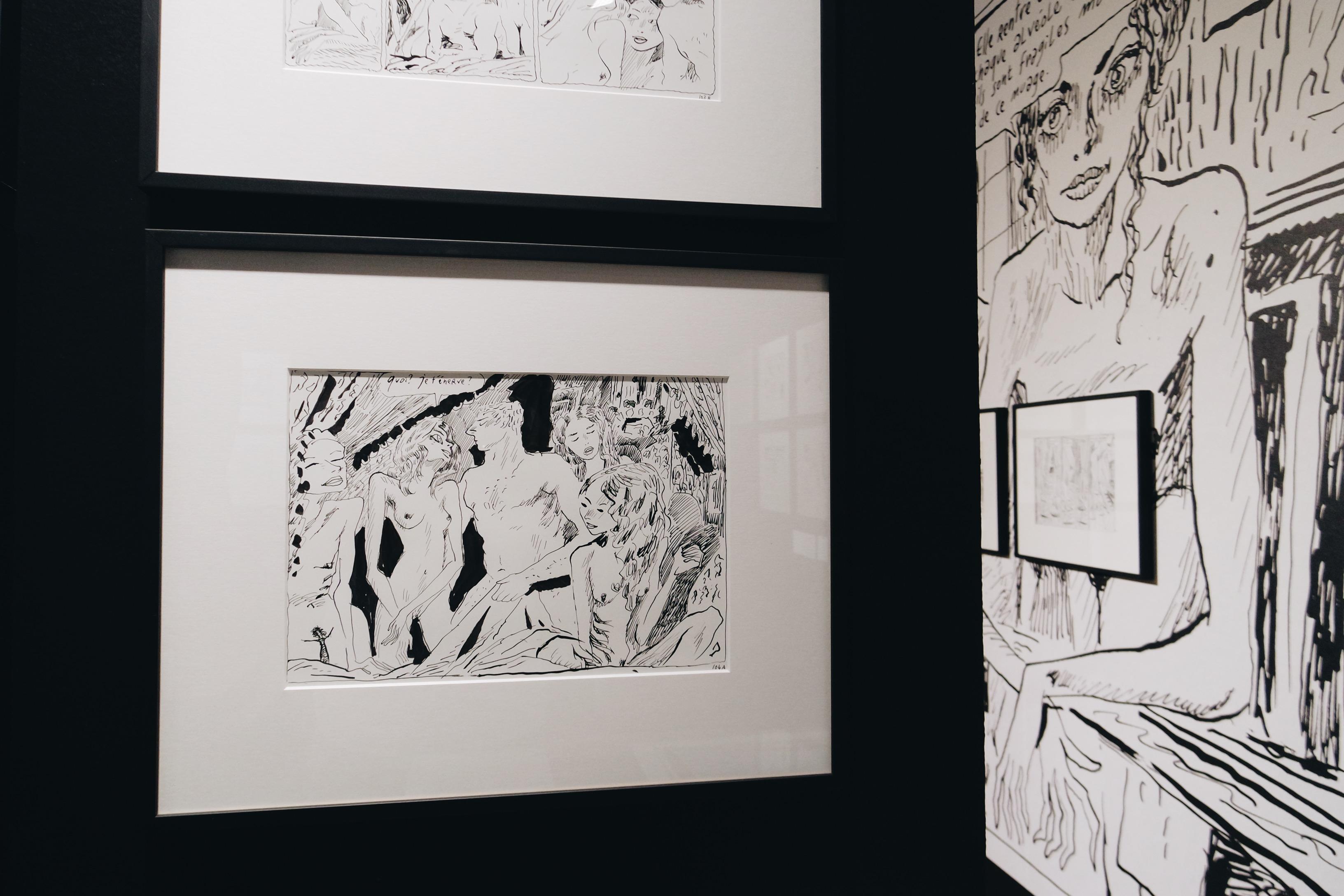 Joann-Sfar-dessin-original-muses-exposition-une-seconde-avant-l-eveil-Espace-Salvador-Dali-Paris-Montmatre-scénographie-Agence-Didier-Saco-Design