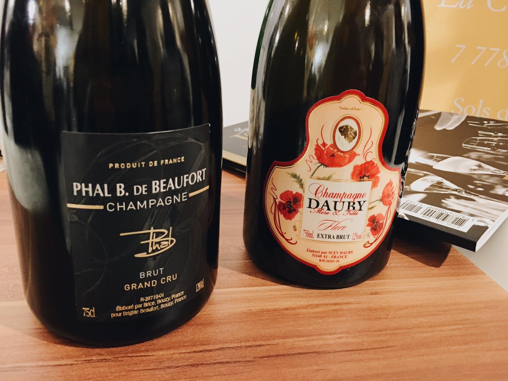 Champagne-Phal-B-De-Beaufort-cuvée-Expression-et-Dauby-mère-et-fille-cuvée-Flore-Champagnes-de-Vignerons-photo-usofparis-blog
