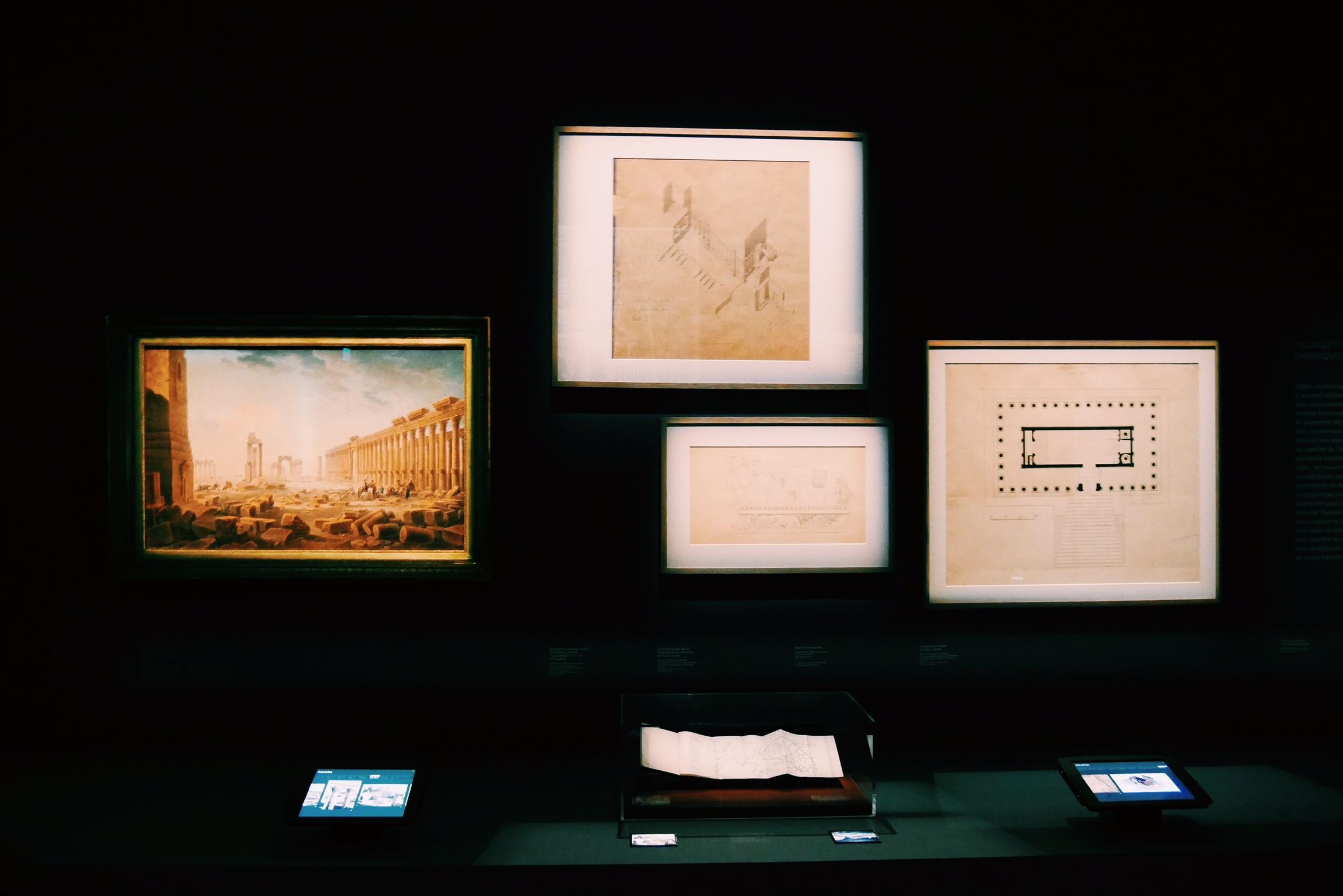 Exposition-Sites-Eternels-Grand-Palais-Paris-tableau-plan-dessin-photos-site-de-Palmyre-Syrie-Unesco-World-Heritage-Center