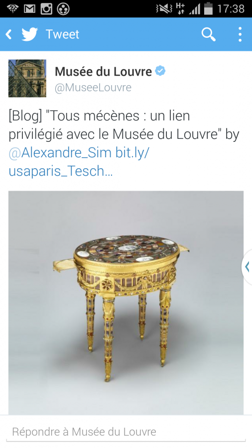 Tous mécènes Musée du louvre twitter tweet RT