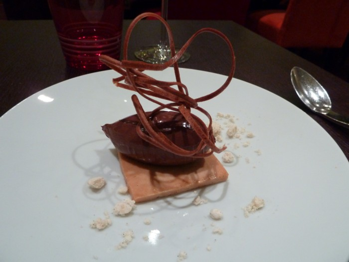Dessert crumble chocolat Hélène Darroze