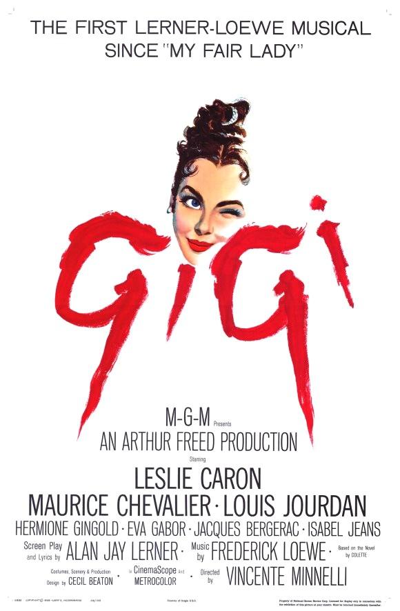Affiche Gigi Leslie Caron Vincente Minelli Maurice Chevalier