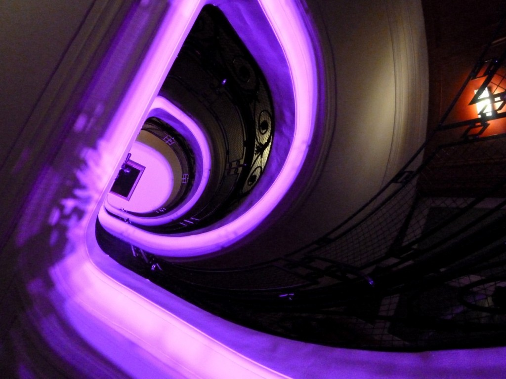 Escalier Hotel w opera paris opening night color stairs