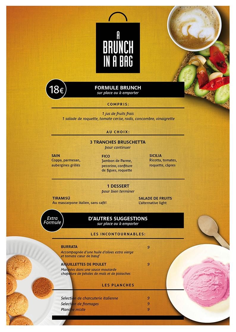 A brunch in a bag by Da carla Traini marilou resto fooding foodporn cuisine italienne fraiche a emporter menu 11 mai dimanche Paris