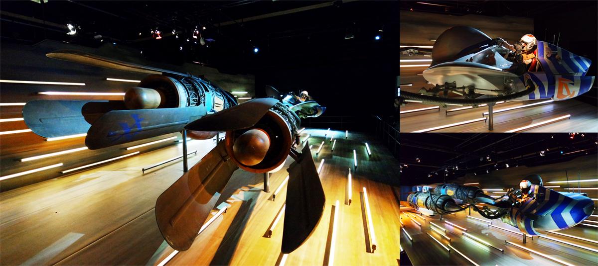 Star Wars Identites cité du cinéma Paris la Sucrière Lyon exposition interactif évènement expo critique guerre des étoiles module de course anakin skywalker episode I 1